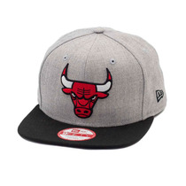 Boné New Era Snapback Original Fit Chicago Bulls Cinza- Nba
