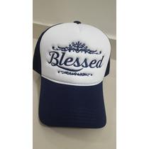 Boné Trucker Bordado Blessed - Abençoado (personalizado)