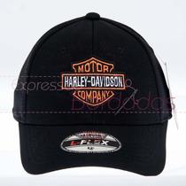 Boné Trucker Harley Davidson Bordado Estados Unidos
