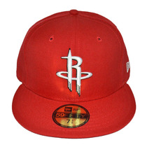 Boné New Era Aba Reta Fechado 5950 Nba Houston Rockets
