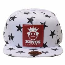 Boné Kingss Aba Reta Snapback Sneakers Stars Estrela Cores