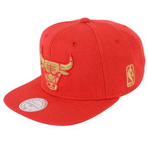 Boné Masculino Mitchell & Ness Nba Chicago Bulls Metallic