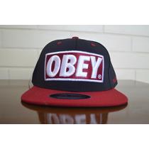 Boné Obey Importado Aba Reta Pronta Entrega