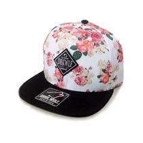 Boné Aba Reta Snapback Dark Wolf Skate Floral Hat Brand Sk8