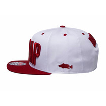 Boné Doutor Cap/drcap Branco/vermelho Snapback Premium