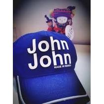 Boné John John Azul Royal Com Branco Produto Original