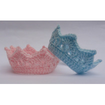 Kit 2 Mini Coroas Em Crochê - Book Fotos-grávidas/newborn