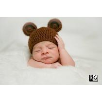 Touca Crochê Ursinho - Book Fotos - Recém-nascidos-newborn