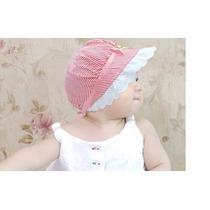 Touca Chapeu Babado Verão Bebê Algodão Com Proteção Uv
