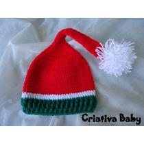 Touca Gorro Natal Newborn Acessório Para Fotografia