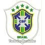 Patch Bordado Copa 2014 Seleção Brasil Cbf Branco 10cm Sel20