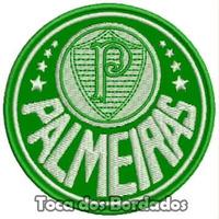 Patch Bordado Escudo Futebol Palmeiras 8,5cm Verdão Tms36
