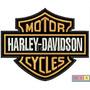 Patch Bordado Termocolante - Harley Davidson Logo 10x7,8cm