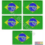Bordado Termocolante - Bandeira Brasil E Países 5cm Kit C/ 5
