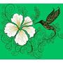 Bordados Computadorizado Bc6345 Beija-flor Para Toalha