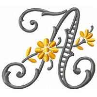 Alfabeto Florido Rechilieu - Coleção De Matriz De Bordado
