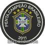 Tpc121 Penta Campeão 2011 Corinthians Tag Patch Bordado 8 Cm