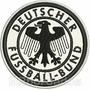 Tde017 Escudo Seleção Alemanha Antigo Tag Patch Bordado 8 Cm