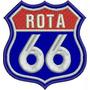 Patch Bordado Rota 66 Tam. 7,5cm X 7cm Moto Jaqueta Car423