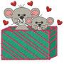 B551 Coleção Bordados Computadorizados Natal Ratinhos Ratos