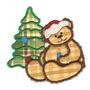 B549 Coleção Bordados Computadorizados Natal Apliques Ursos