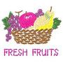 B653 Coleção Bordados Computadorizados Frutas E Legumes