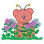 B487 Coleção Bordados Computadorizados Urso Infantil Baby