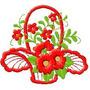 B415 Coleção Bordado Computadorizado Flores Brothe Janome