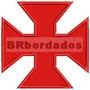Patch Bordado Trj005 Cruz De Malta Pátea Vasco Antigo Escudo