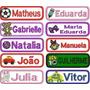 Super Kit C/ 10 Etiquetas Personalizadas C/ Nome P/ Uniforme