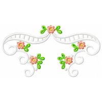 Barras De Flores Rechilieu - Coleção De Matriz De Bordado