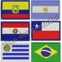 Mini Bandeira Bordada Estados Paises Brasil Patch Sp Rs Rj