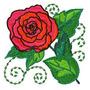 B1312 Coleção Bordados Computadorizados Rosas Flores Lindas