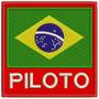 Patch Bordado Bandeira Brasil Piloto 9x9cm Verm. Kart Esp49