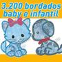 Super Coleção Com 3200 Bordados Baby E Infantil Em Jef E Pes