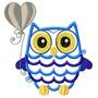 Coruja Baby Owl Aplique - Coleção De Matriz De Bordado
