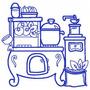 Cozinha Fogão A Lenha - Coleção De Matriz De Bordado