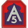 Patch Bordado A5 5º Exercito Aliado 2º Gerra