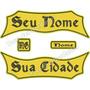 Kit Bordado 4pçs Tarjas Texto Livre Tag Nome Cidade 35cm Tj3