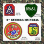 Kit 4 Pçs Patch Bordado Militar 2º Guerra Mundial Feb A5