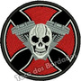 Patch Bordado Cruz Moto Skull Cross Hed Tam8x8cm Car673