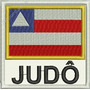 Atm069 Bandeira Ba Judô 9cm Art Marcial Kimono Patch Bordado