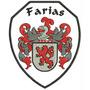 Bordado Termocolante Brasão Da Familia Farias Patch Bra14