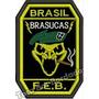 Patch Bordado Feb Brasil Brasucas 2ª Guerra 9x6cm Mlt104