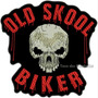 Bordado Old Skool Biker Gr30cm P/ Jaqueta Patch Moto Car297