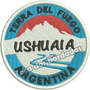 Patch Bordado Brasão Rota Moto Argentina Ushuaia 8cm Car784