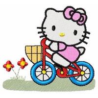 Bordados Computadorizados Hello Kitty Bicicleta Bc5648