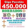 Giga Pacotão Coleção Bordados+450 Mil Motivos+brindes+disney