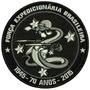 Patch Bordado Mt034b Símbolo Feb 70 Anos Comemorativo Cinza