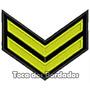 Bordado Termocolante Divisa Militar Patch Gerra Mlt2